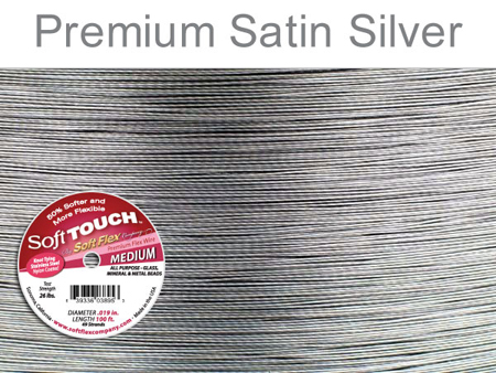 SOFT FLEX SOFT TOUCH WIRE - CLEAR, .019, 100FT