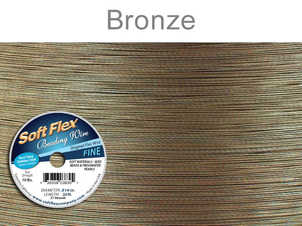 SOFT FLEX WIRE - GOLDEN BRONZE, .014, 30FT