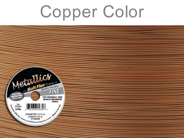 SOFT FLEX WIRE METALLIC - COPPER, .014, 30FT