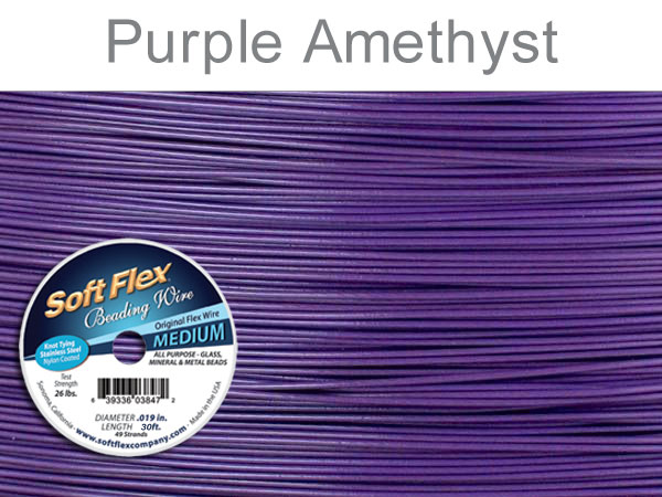 SOFT FLEX WIRE - PURPLE, .019, 30FT