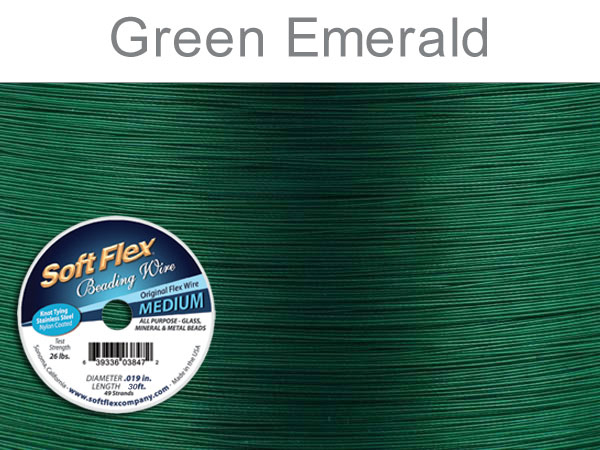 SOFT FLEX WIRE - GREEN, .019, 30FT