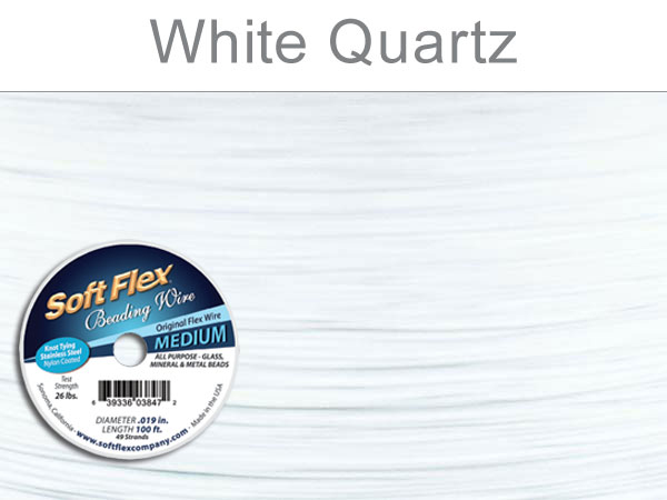 SOFT FLEX WIRE - WHITE, .019, 100FT