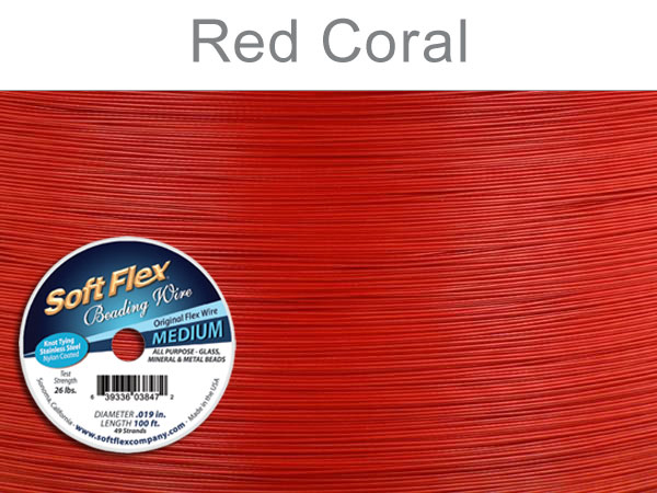 SOFT FLEX WIRE - RED, .019, 100FT