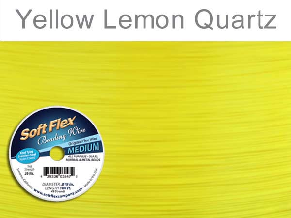 SOFT FLEX WIRE - YELLOW, .019, 100FT