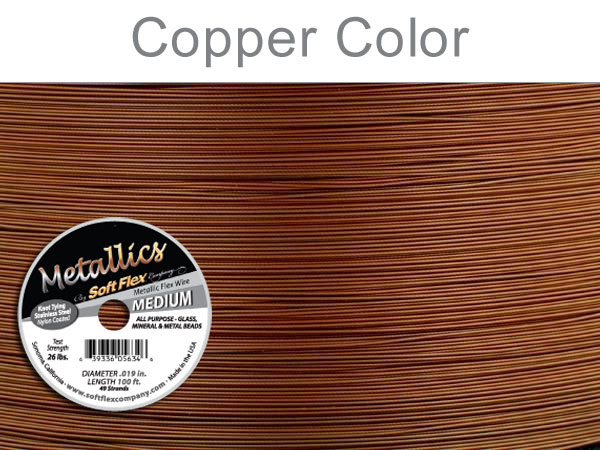 SOFT FLEX WIRE METALLIC - COPPER, .019, 100FT