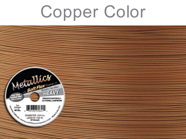 SOFT FLEX WIRE METALLIC - COPPER, .024, 100FT