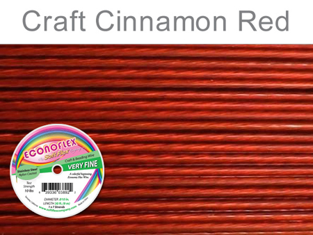 SOFT FLEX ECONOFLEX - CINNAMON RED, .010