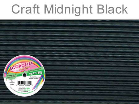 SOFT FLEX ECONOFLEX - MIDNIGHT BLACK, .010