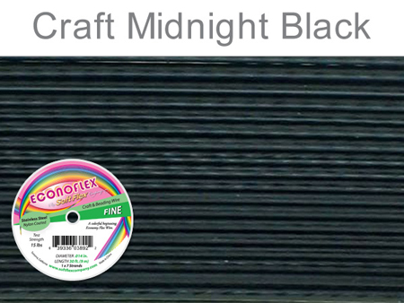 SOFT FLEX ECONOFLEX - MIDNIGHT BLACK, .014