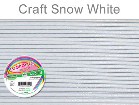 SOFT FLEX ECONOFLEX - SNOW WHITE, .019