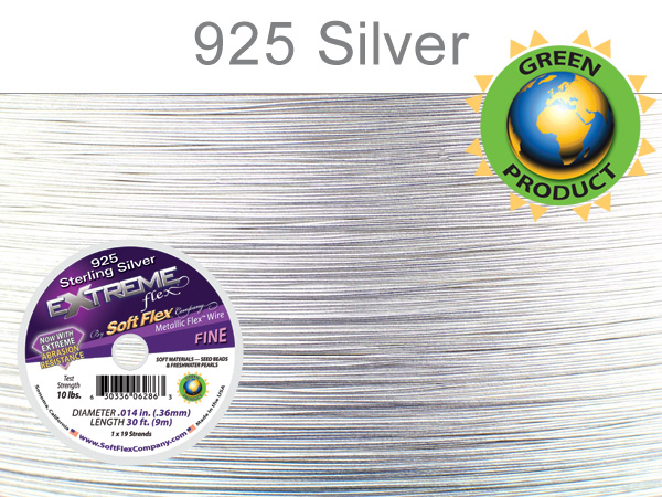 SOFT FLEX EXTREME .014 DIA, 30FT - STERLING SILVER