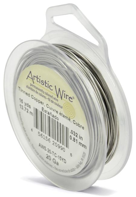 ARTISTIC WIRE SPOOL - 20 GAUGE - TINNED COPPER