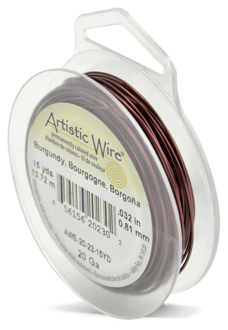 ARTISTIC WIRE SPOOL - 20 GAUGE - BURGUNDY