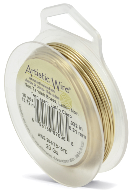 ARTISTIC WIRE SPOOL - 20 GAUGE - NON-TARNISH BRASS