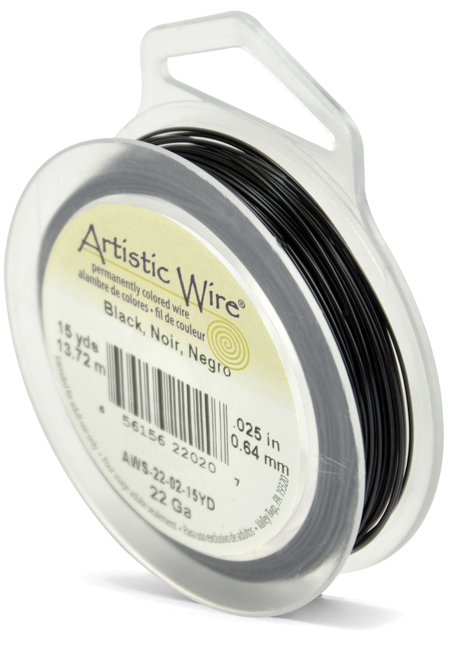 ARTISTIC WIRE SPOOL - 22 GAUGE - BLACK