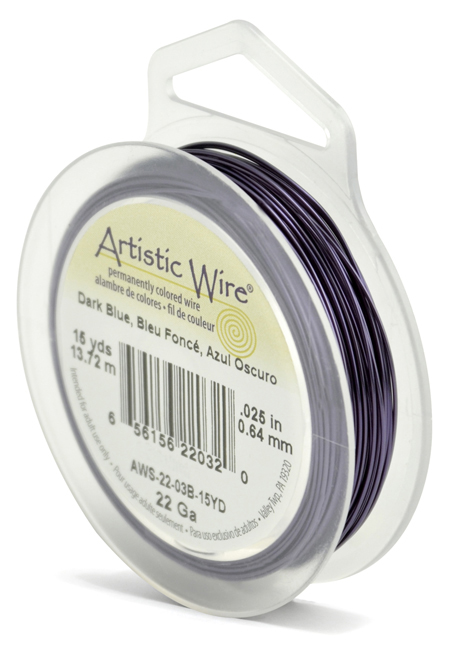 ARTISTIC WIRE SPOOL - 22 GAUGE - DARK BLUE
