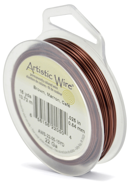 ARTISTIC WIRE SPOOL - 22 GAUGE - BROWN