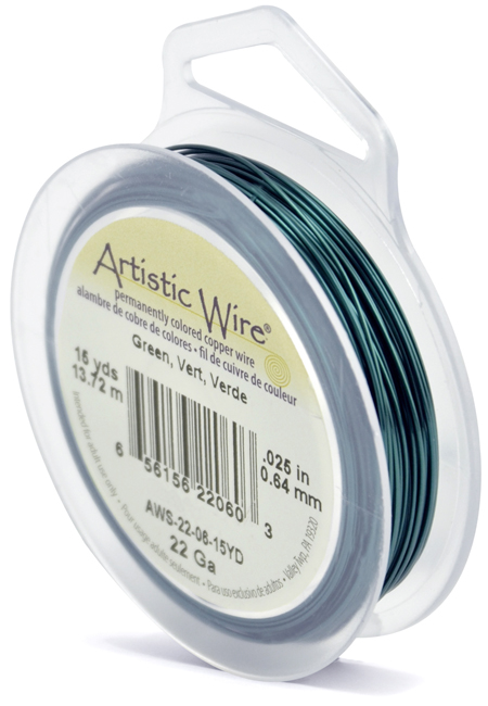 ARTISTIC WIRE SPOOL - 22 GAUGE - GREEN