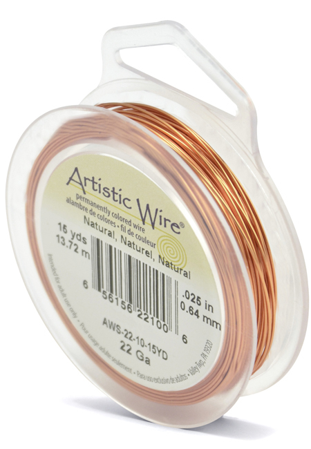 ARTISTIC WIRE SPOOL - 22 GAUGE - NATURAL
