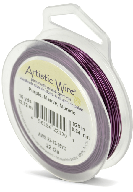 ARTISTIC WIRE SPOOL - 22 GAUGE - PURPLE