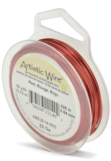 ARTISTIC WIRE SPOOL - 22 GAUGE - RED