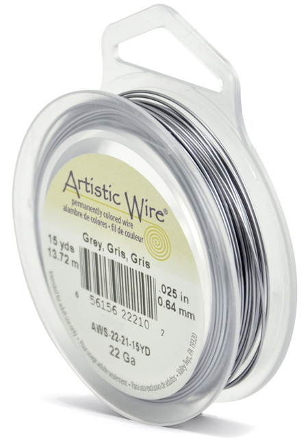 ARTISTIC WIRE SPOOL - 22 GAUGE - GREY