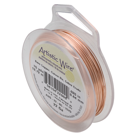 ARTISTIC WIRE SPOOL - 22 GAUGE - BARE COPPER