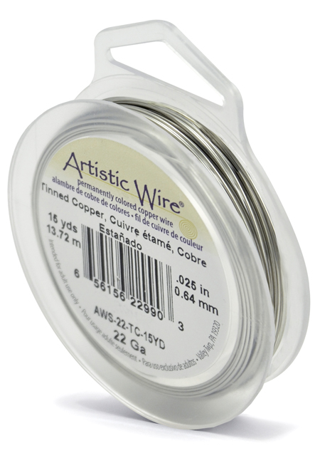 ARTISTIC WIRE SPOOL - 22 GAUGE - TINNED COPPER