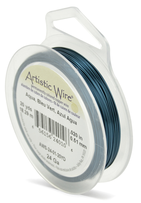 ARTISTIC WIRE SPOOL - 24 GAUGE - AQUA