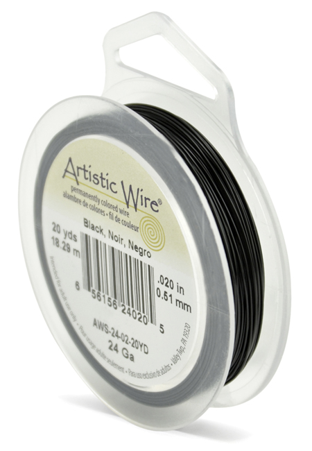 ARTISTIC WIRE SPOOL - 24 GAUGE - BLACK