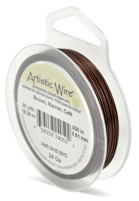 ARTISTIC WIRE SPOOL - 24 GAUGE - BROWN