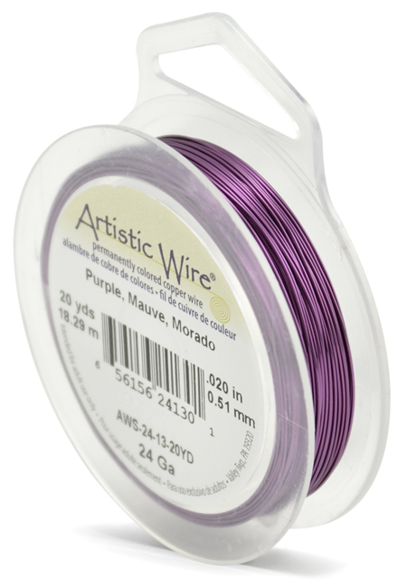 ARTISTIC WIRE SPOOL - 24 GAUGE - PURPLE