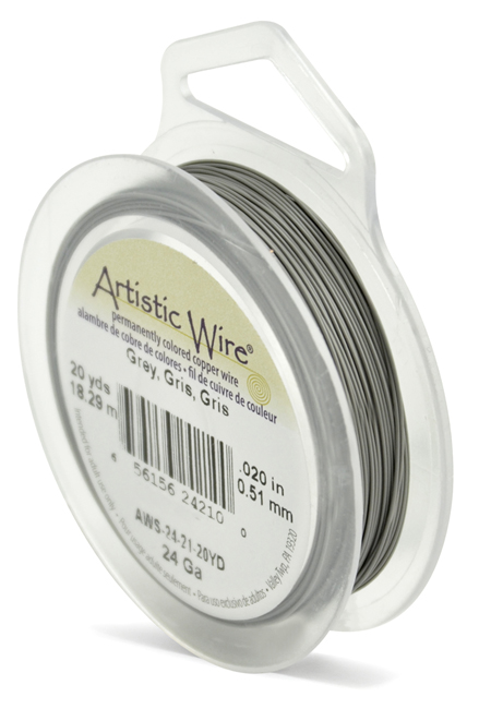 ARTISTIC WIRE SPOOL - 24 GAUGE - GREY