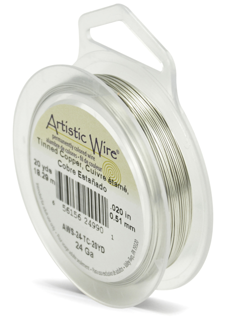 ARTISTIC WIRE SPOOL - 24 GAUGE - TINNED COPPER