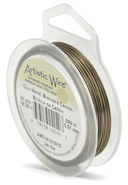 ARTISTIC WIRE SPOOL - 24 GAUGE - ANTIQUE BRASS