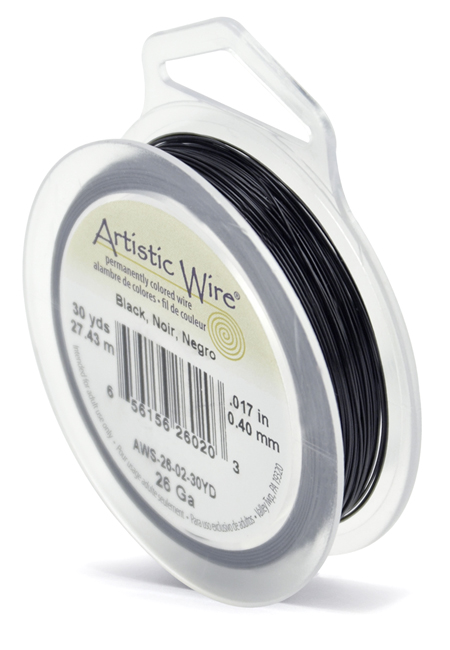ARTISTIC WIRE SPOOL - 26 GAUGE - BLACK