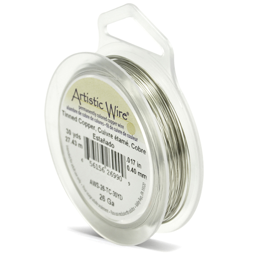 ARTISTIC WIRE SPOOL - 26 GAUGE - TINNED COPPER