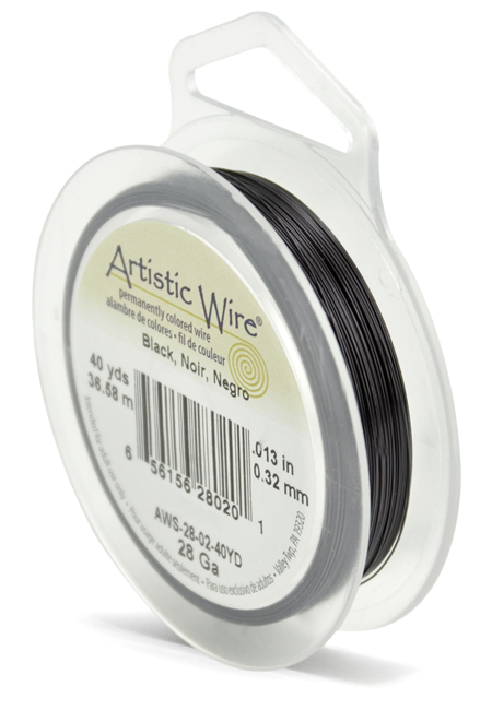 ARTISTIC WIRE SPOOL - 28 GAUGE - BLACK