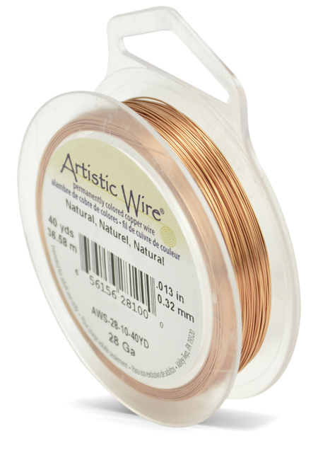ARTISTIC WIRE SPOOL - 28 GAUGE - NATURAL
