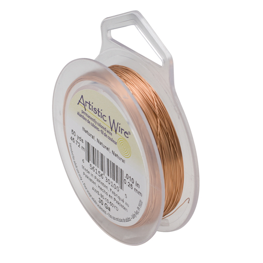 ARTISTIC WIRE SPOOL - 30 GAUGE - NATURAL