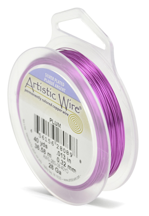 ARTISTIC SILVER WIRE - PLUM - 28GA, 40YDS