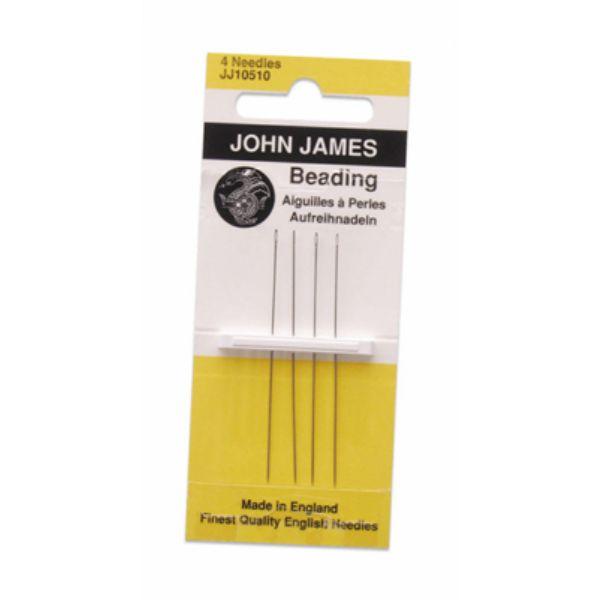 ENGLISH BEADING NEEDLE #10 BX-W/12 CARDS