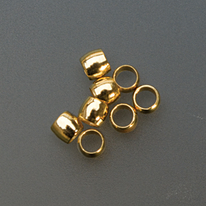 ROUND CRIMP BEAD-GOLD-2mm- PK/144