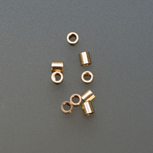 GOLD FILLED TUBE CRIMPS  2MM X 2MM