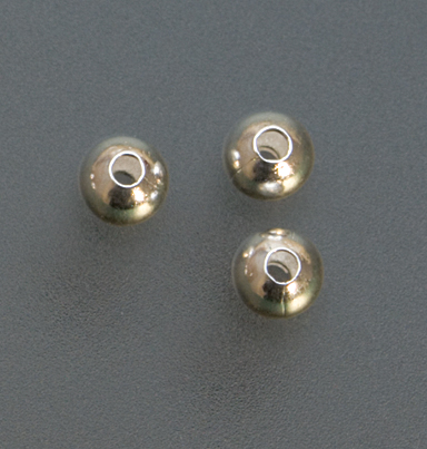 STERLING SILVER SEAMED BEAD-3mm- pk/100