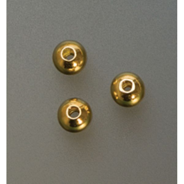 SEAMED BEAD CRIMP COVER-4MM GOLD PLATED- PK/1000