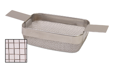 RECTANGULAR CLEANING BASKET - SMALL W/ STANDARD MESH