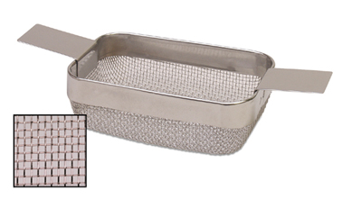 RECTANGULAR CLEANING BASKET - SMALL W/ FINE MESH