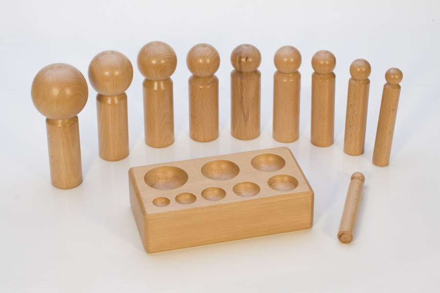 LARGE WOOD DAPPING SET