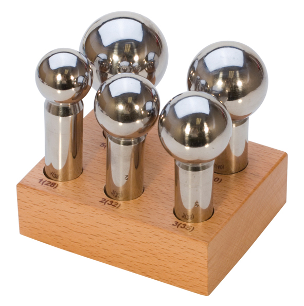 5PC LARGE PUNCH SET W/WOOD STAND